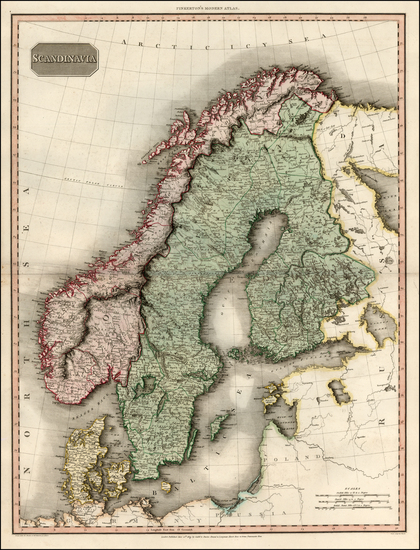 66-Scandinavia Map By John Pinkerton