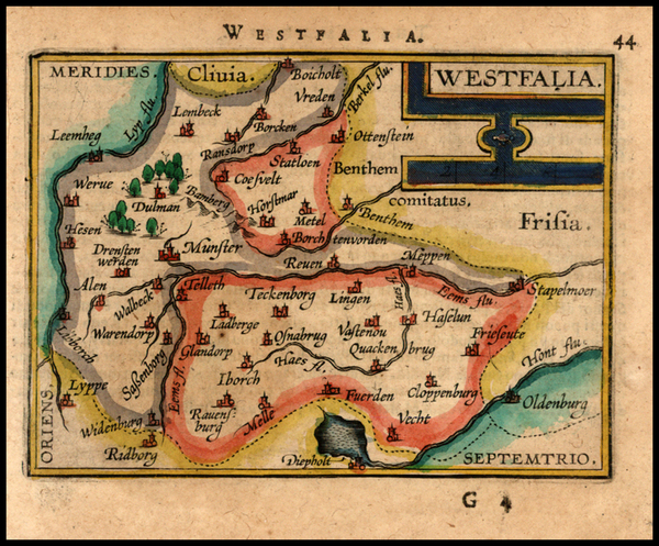 96-Germany Map By Abraham Ortelius / Johannes Baptista Vrients