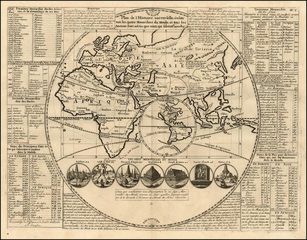 35-World, World, Eastern Hemisphere, South America, California and America Map By Henri Chatelain