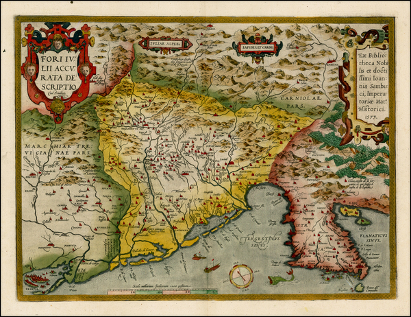 65-Balkans and Italy Map By Abraham Ortelius