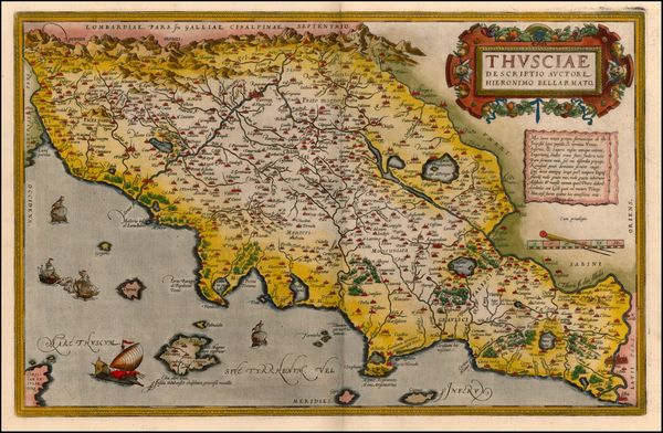 41-Europe and Italy Map By Abraham Ortelius