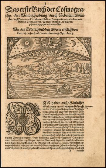 63-World, World, Curiosities and Celestial Maps Map By Sebastian Munster
