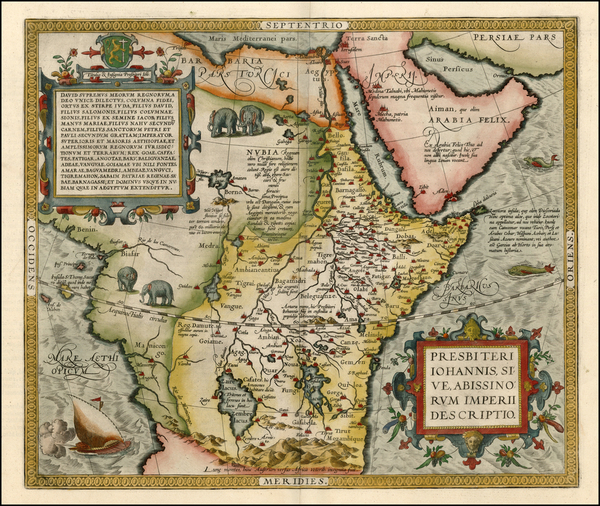 50-Africa, Africa, North Africa, East Africa and West Africa Map By Abraham Ortelius