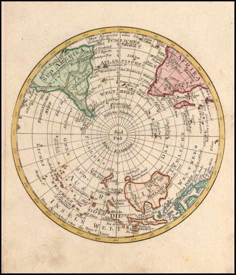 99-World, Southern Hemisphere and Polar Maps Map By Johann Walch