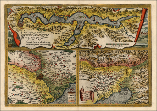 14-Europe and Italy Map By Abraham Ortelius