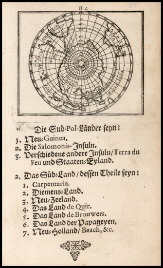 31-Southern Hemisphere and Polar Maps Map By Johann Ulrich Muller