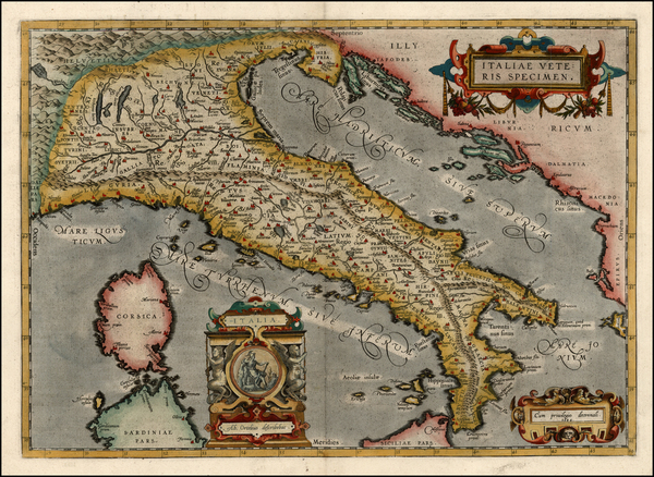 95-Europe and Italy Map By Abraham Ortelius