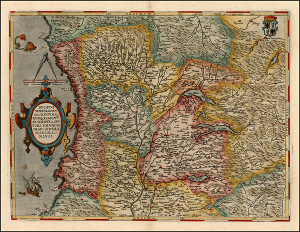 91-Europe and Italy Map By Abraham Ortelius
