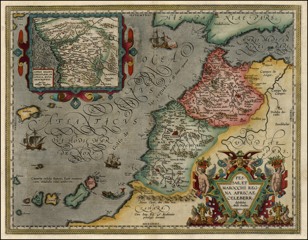 35-Africa, North Africa and West Africa Map By Abraham Ortelius