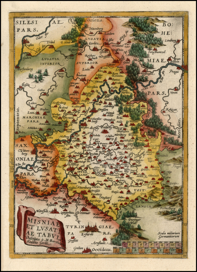 65-Europe and Germany Map By Abraham Ortelius