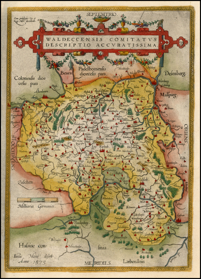 95-Germany Map By Abraham Ortelius