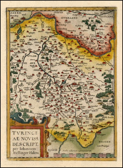 72-Europe and Germany Map By Abraham Ortelius