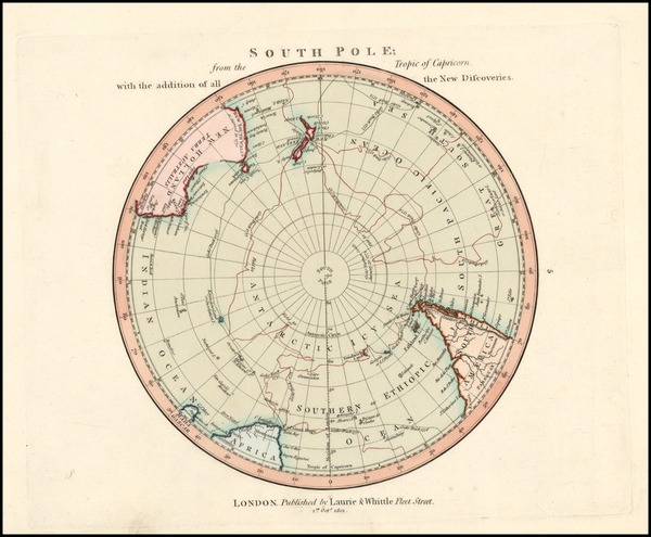 72-Southern Hemisphere and Polar Maps Map By Richard Holmes Laurie  &  James Whittle