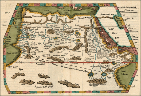 15-Africa, North Africa, West Africa and African Islands, including Madagascar Map By Lorenz Fries
