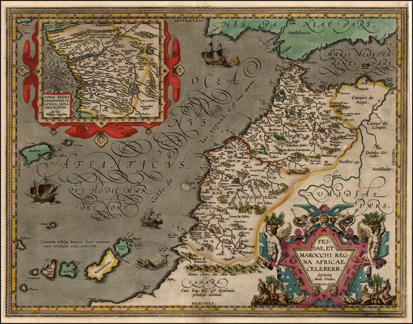 91-Africa, North Africa and West Africa Map By Abraham Ortelius