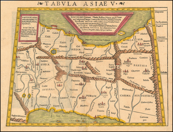 65-Central Asia & Caucasus and Middle East Map By Sebastian Munster