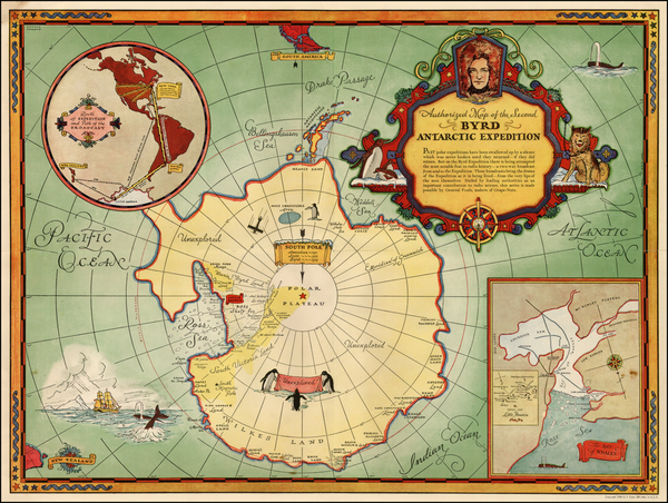 14-Southern Hemisphere and Polar Maps Map By General Foods Corporation
