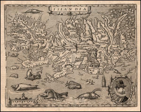 100-Atlantic Ocean and Iceland Map By Matthias Quad