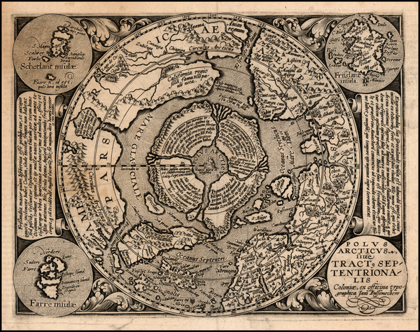4-Northern Hemisphere and Polar Maps Map By Matthias Quad