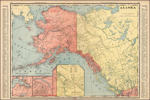 93-Alaska Map By George F. Cram