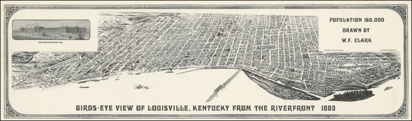 17-Kentucky Map By W. F. Clark