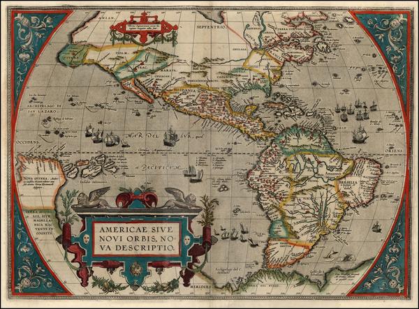 27-World, Western Hemisphere, South America and America Map By Abraham Ortelius