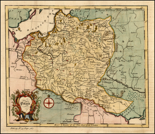 40-Europe, Poland and Baltic Countries Map By John Gibson