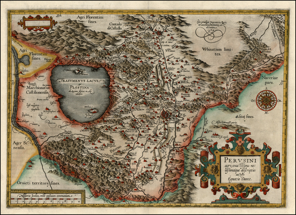 68-Italy Map By Abraham Ortelius