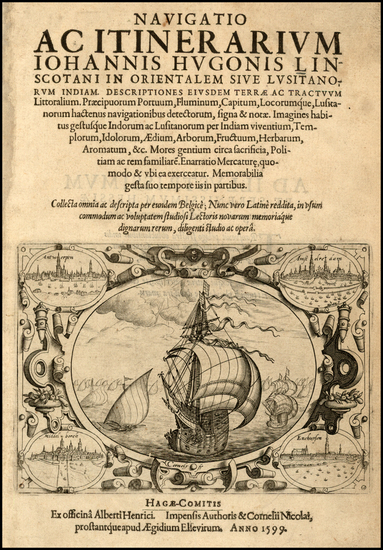 17-Netherlands, Belgium and Title Pages Map By Johannes Van Linschoten