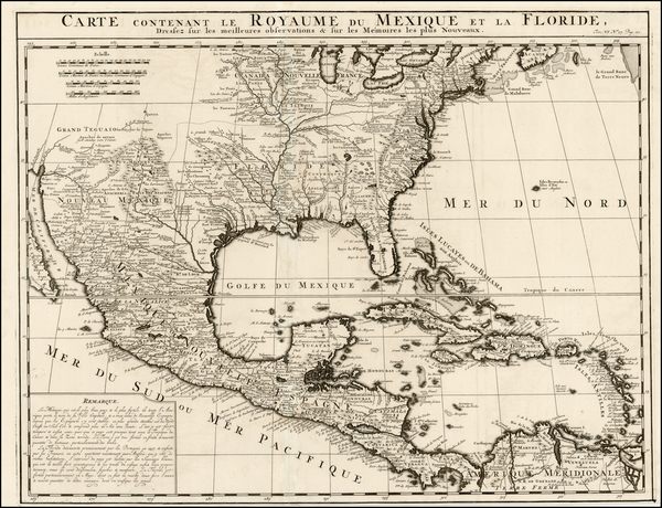 11-United States, Florida, South, Southeast, Texas, Midwest and Southwest Map By Henri Chatelain