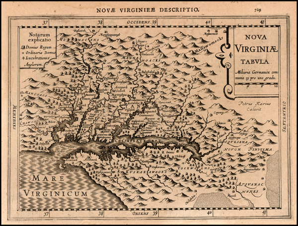 86-Mid-Atlantic and Southeast Map By Johannes Cloppenburg
