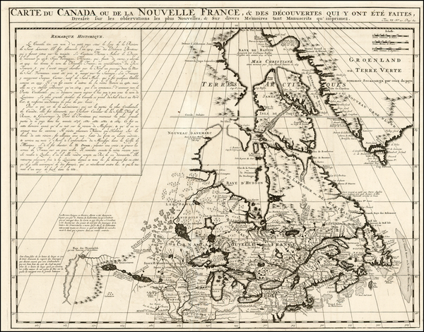 2-New England, Midwest and Canada Map By Henri Chatelain