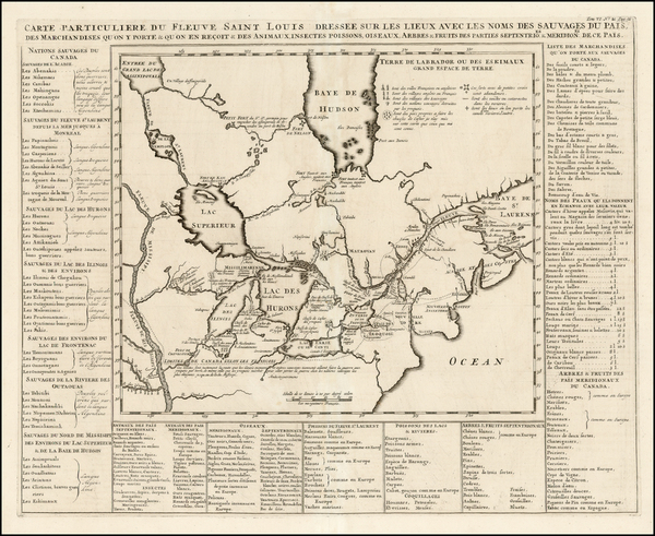 37-Midwest, Plains and Canada Map By Henri Chatelain