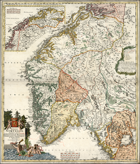 11-Scandinavia Map By Johann Baptist Homann