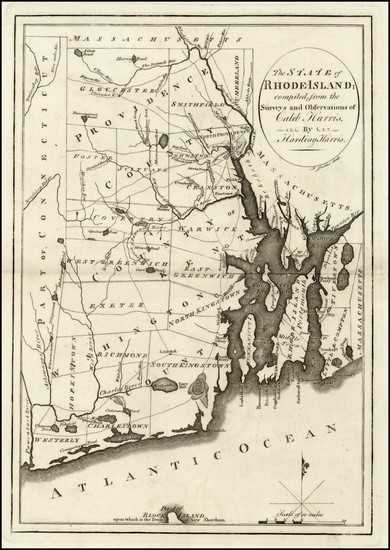 68-New England and Rhode Island Map By