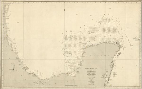39-Mexico Map By Direccion Hidrografica de Madrid