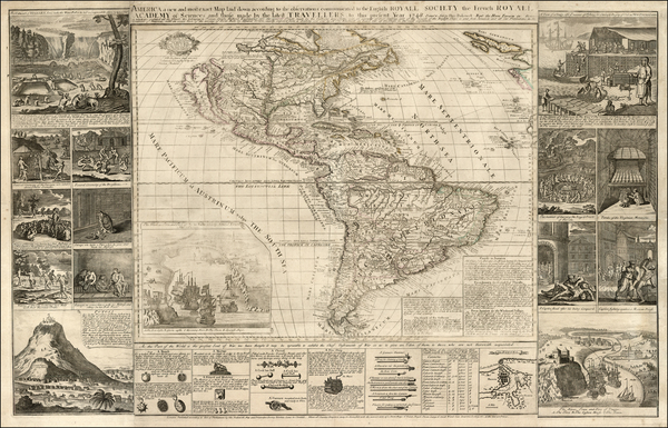 82-United States, North America, South America and America Map By Thomas Bakewell