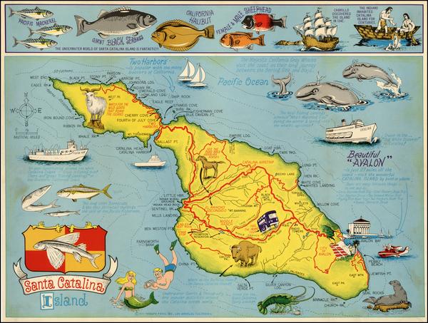 12-California Map By Triumph Press Inc.