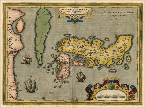 63-Asia, Japan and Korea Map By Abraham Ortelius