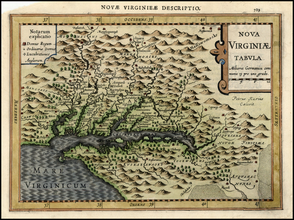 38-Mid-Atlantic and Southeast Map By Johannes Cloppenburg