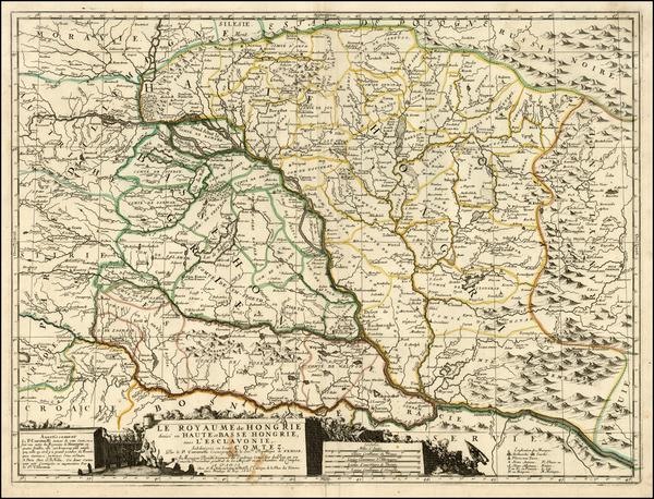 93-Austria, Hungary, Romania and Balkans Map By Vincenzo Maria Coronelli / Jean-Baptiste Nolin