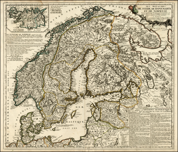 66-Scandinavia Map By Vincenzo Maria Coronelli / Jean-Baptiste Nolin