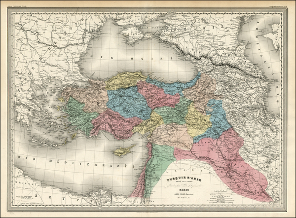 42-Ukraine, Turkey, Central Asia & Caucasus, Middle East and Turkey & Asia Minor Map By Ad