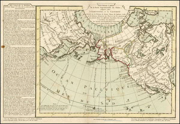 99-Alaska, China, Japan, Pacific, Russia in Asia and California Map By Philippe Buache / Jean-Clau