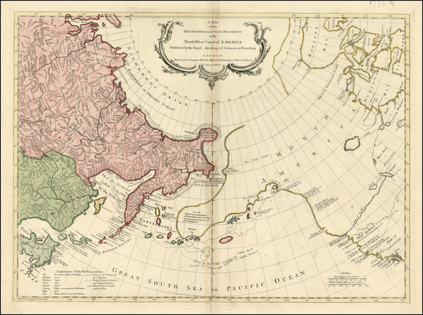 50-Alaska, Canada and Russia in Asia Map By Carrington Bowles