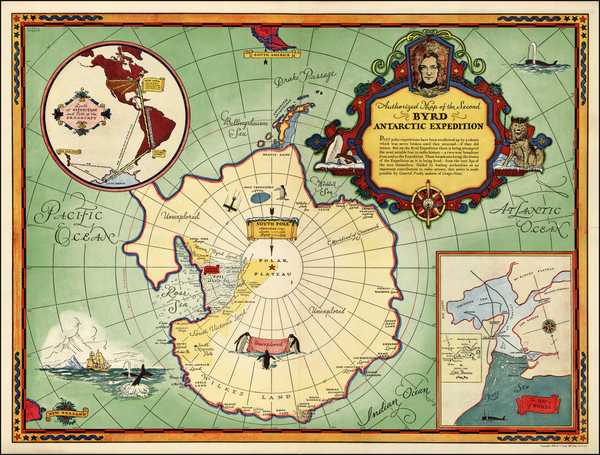 84-Southern Hemisphere and Polar Maps Map By General Foods Corporation
