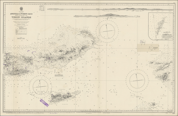 55-Caribbean, Puerto Rico and Virgin Islands Map By British Admiralty