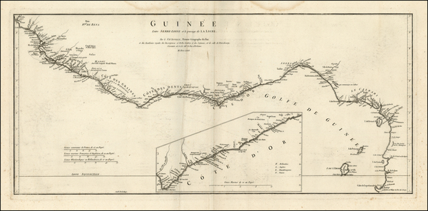 West Africa Map By Jean-Baptiste Bourguignon d'Anville