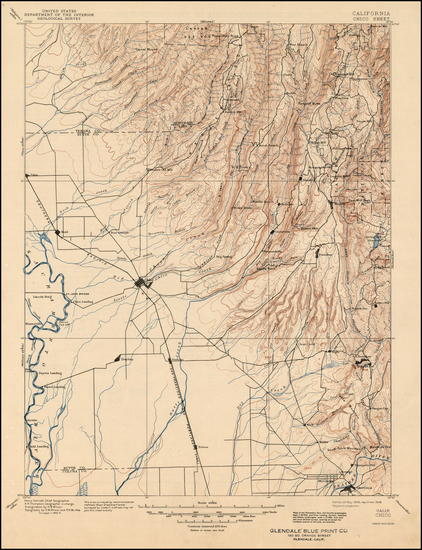 65-California Map By U.S. Geological Survey