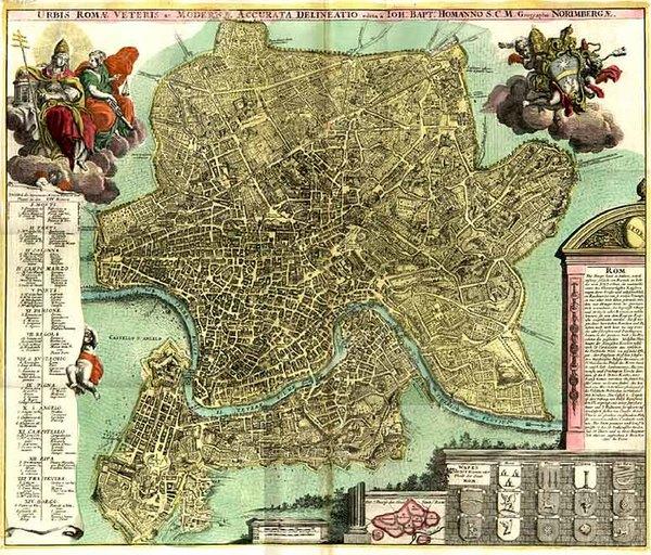 78-Europe and Italy Map By Johann Baptist Homann